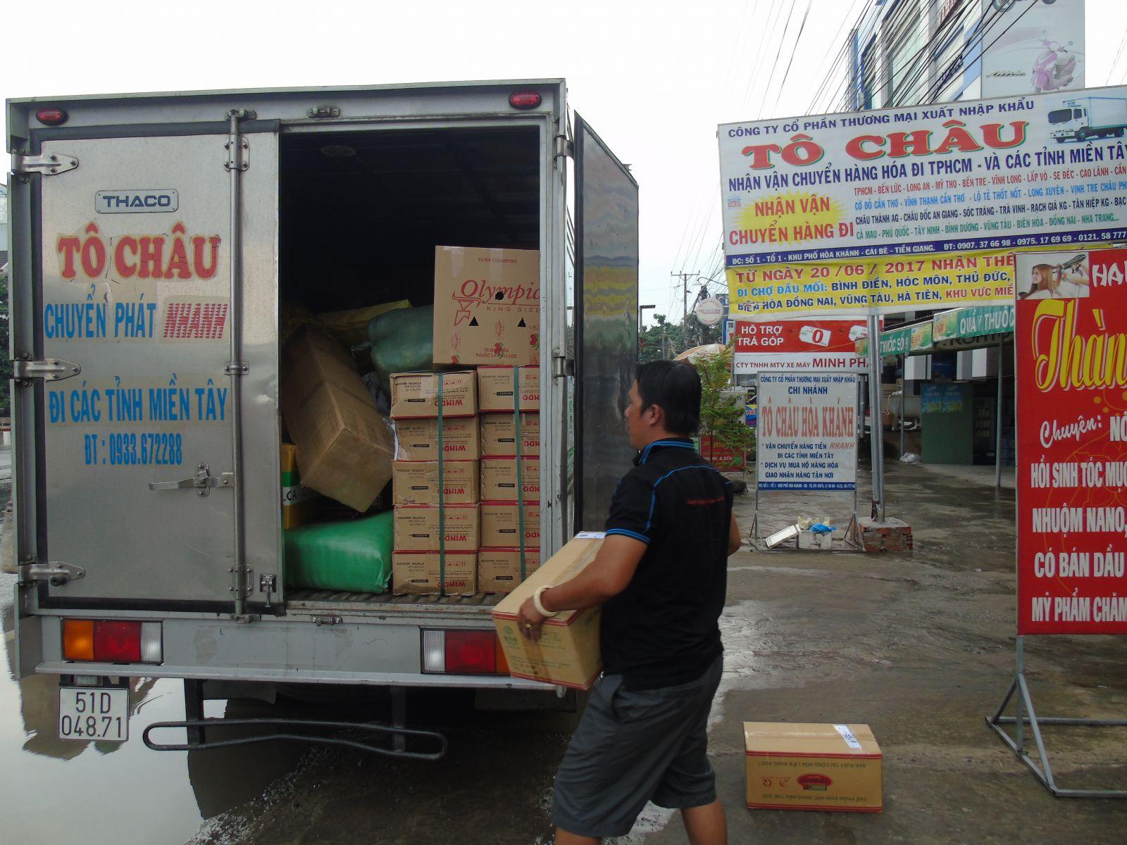 Xe Tô Châu vận chuyển hàng hóa nhanh Cái Bè đi TP.HCM